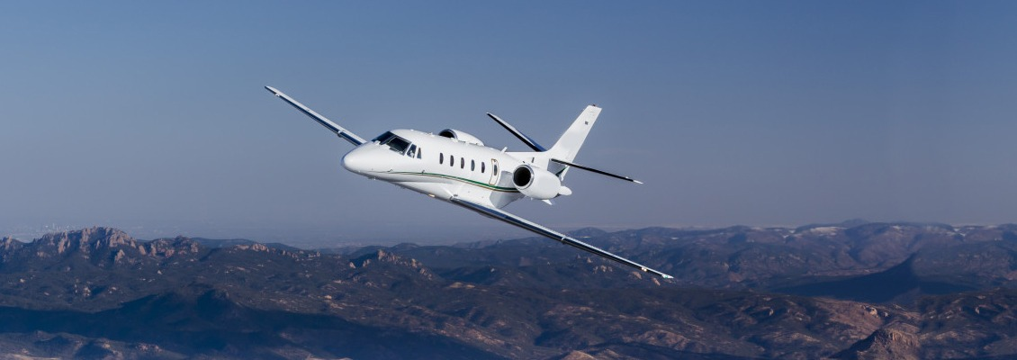 Aerial photography of the Textron Cessna Citation XLS+ jet. The XLS+ is the best selling business jet in the world; with transcontinental range this midsize jet can seat up to 12 passengers. Pikes Peak Region Colorado Springs, CO  USA